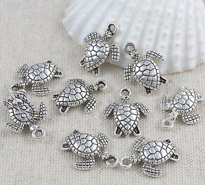 10 Charms Schildkröte Anhänger 16x13 mm Antik Silber Metallanhänger Basteln | eBay
