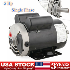 5 Hp Air Compressor Duty Electric Motor 56 Frame 3450 Rpm Single Phase 78