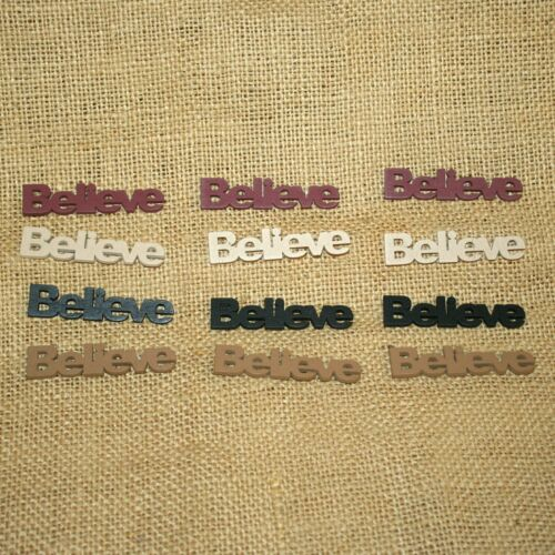 12 Believe Wooden Word Bowl Filler Home Decor