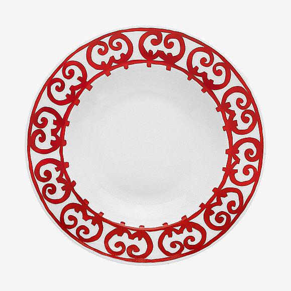 HERMES BALCON DU GUADALQUIVIR par de platos de sopa  P011113P Nuevo en Caja Rojo F Envío y gestión