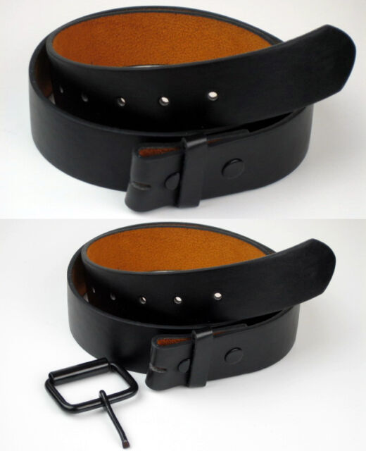 NEW - 100% GENUINE BONDED LEATHER - DETACHABLE BUCKLE - SNAP ON BELT