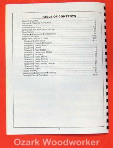 FOLEY BELSAW 2301080 Belt Sander//Grinder Operator/'s /& Parts Manual 0870