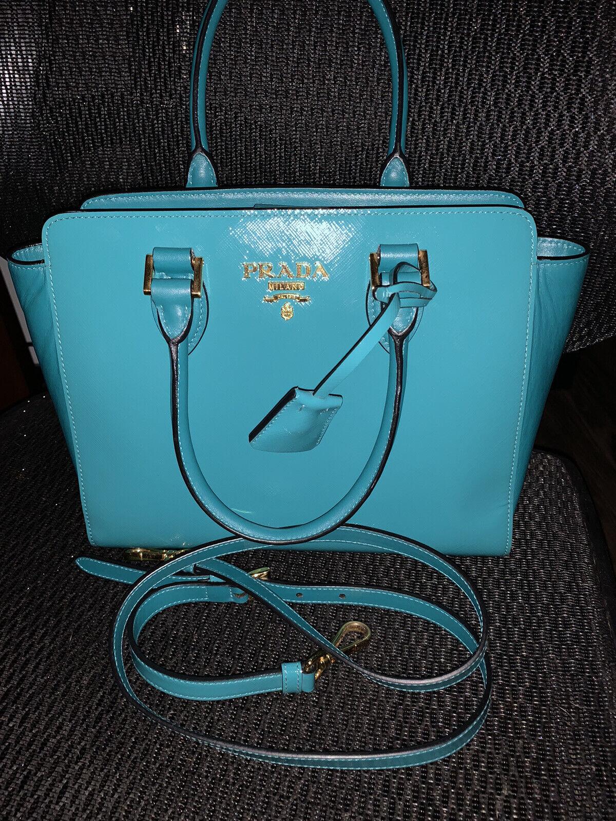 prada leather crossbody bag - image 1