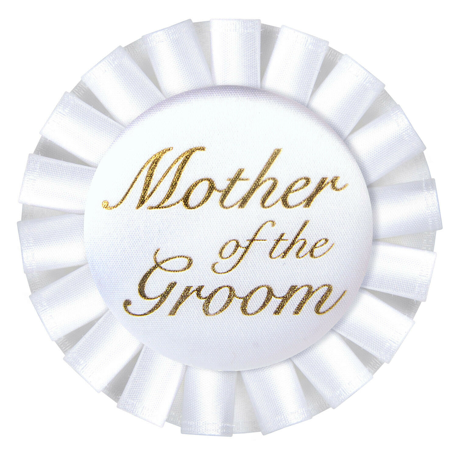(12) Mother Of The Groom Satin Button