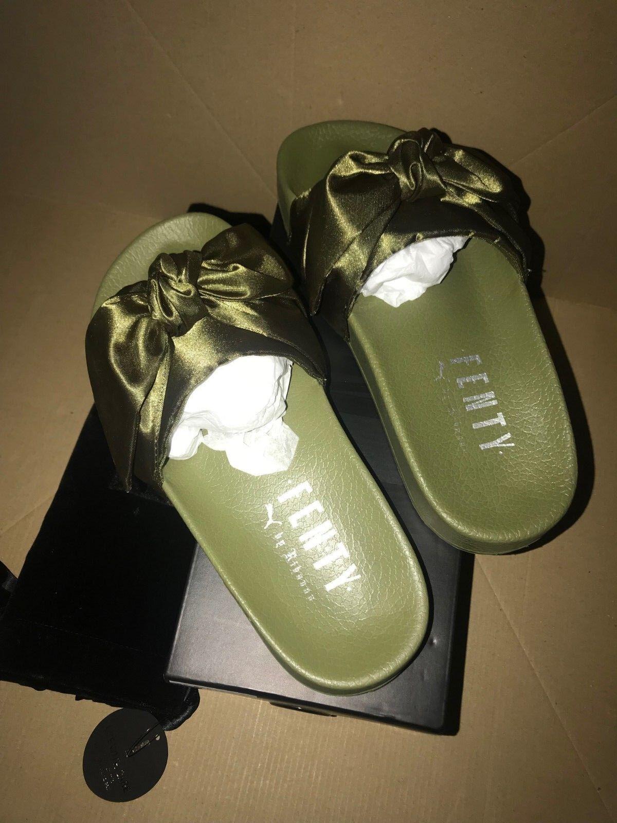 comprar ahora Puma BUDGET por Rihanna Rihanna Rihanna Moño Deslizadores diapositiva oliva tamaño de Reino Unido 3  para barato