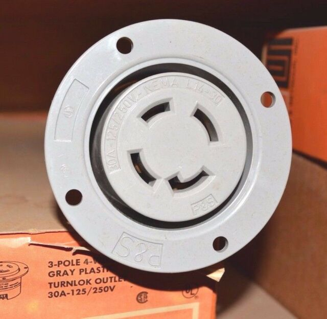 Pass & Seymour L1430-fo Flanged Outlet 4 Wire 30 Amp 125/250 VAC ...