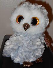 "Ty Beanie Boos ~ OWLETTE the 6"" Owl Stuffed Plush Toy (Brand New) 2016 Design"