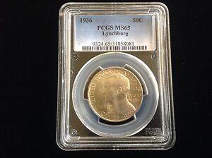 1936 Lynchburg Commemorative Half Dollar PCGS MS65