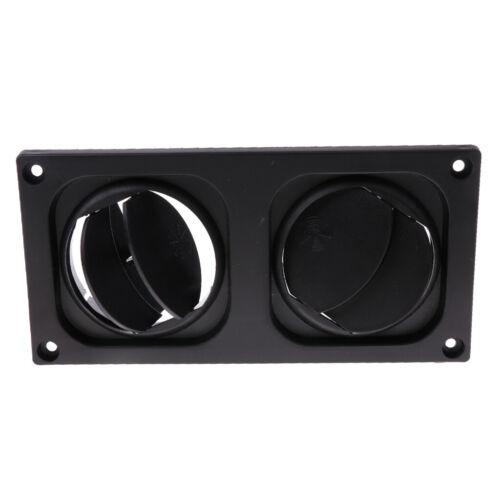 Adjustable Round Ceiling Air Vent Grille RV AC Vent Screw Open Close Black