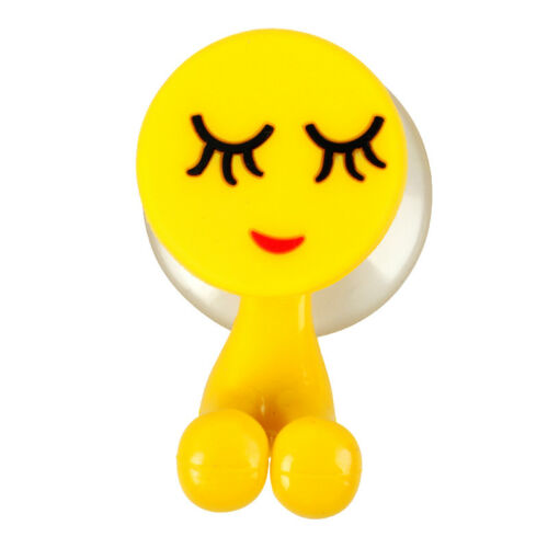 15Styles Emoji Expression Toothbrush Holder Cute Suction Hook Bathroom Wall