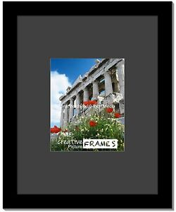 Creativepf 16x20 Inch Black Picture Frame W Black Mat Holds 8x10