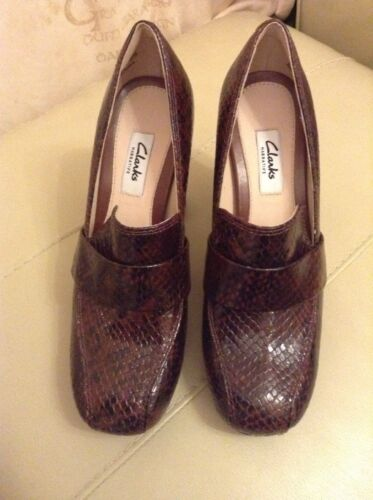 Tan 5eu New❤️clarks❤️size 5 4 mujer Wide Dark Gabriel Snake Fit Soho 37 Leather 1Bv1nO