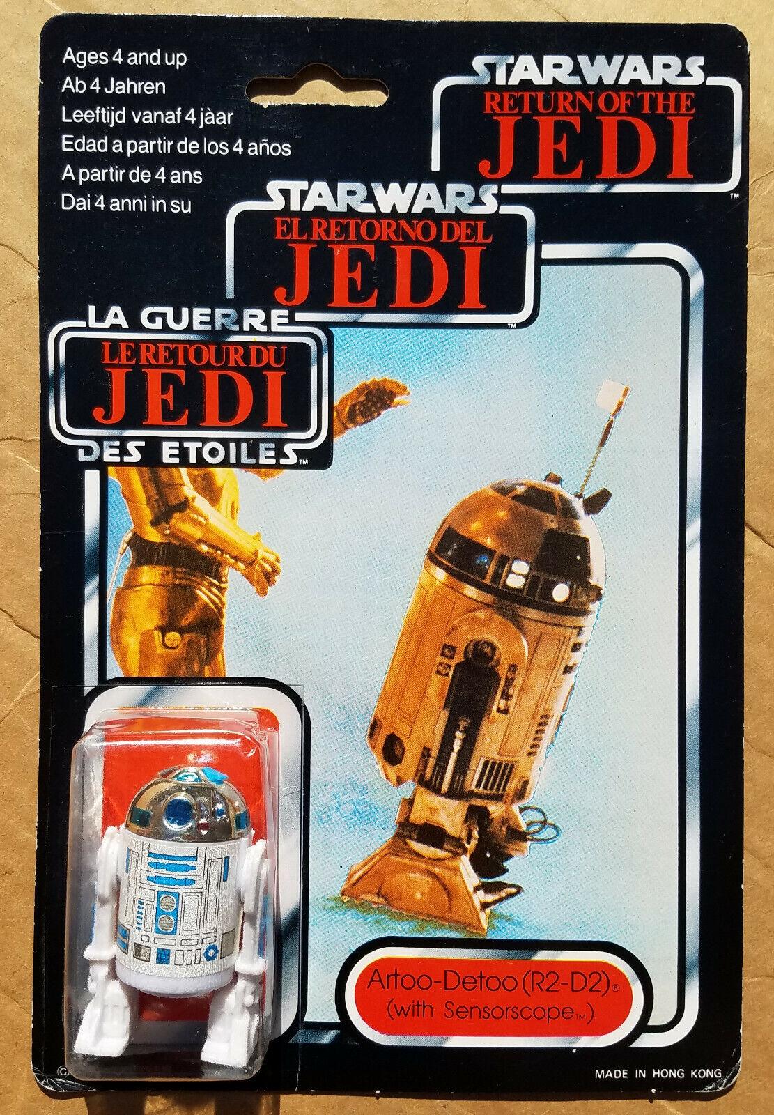 ventas en linea Estrella Wars R2-D2 Sensorscope figura Tri Logo Vintage Cochedada menta menta menta en tarjeta PaliJuguete Trilogo  en linea