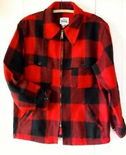 Woolrich Lumberjack Buffalo Plaid Vintage Wool Mackinaw Hunting field Coat Large