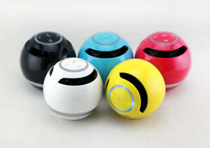 Handsfree-phone-wireless-bluetooth-speaker-round-bass-portable-mini-stereo-ON