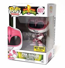 "Exclusive power rangers métallique rose ranger 3.75/"" POP vinyl figure FUNKO 407"