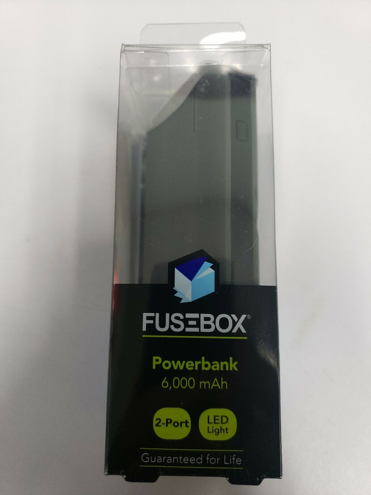 Fusebox Power Bank 2 Ports 6000 mAh Portable Power Source with LED Light  for sale onlineeBay