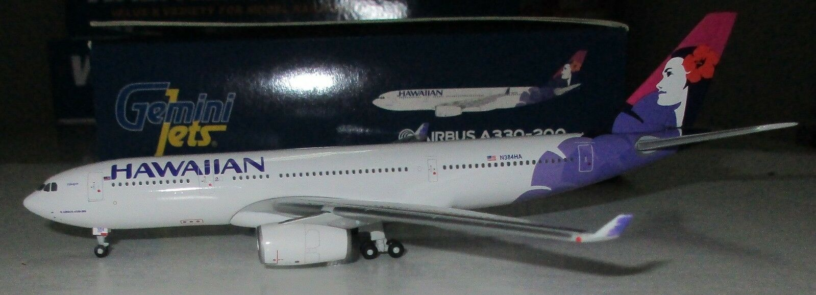 Gemini Jets 1 1 1 400  Hawaiian Airlines A330-200   N384HA   - GJHAL1281 2e941e