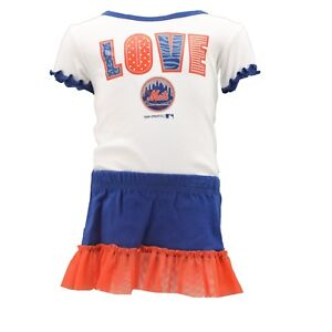 huge discount d4227 4e20f Details about New York Mets MLB Genuine Girls Infant 2 Piece Creeper &  Skirt Combo New Tags