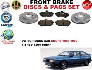 para-VW-SCIROCCO-53b-Coupe-1-8-16v-85-92-Discos-freno-Delantero-Set