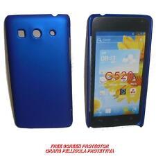 Pellicola+custodia BACK COVER RIGIDA BLU per Huawei Ascend G525 G520 (C2)