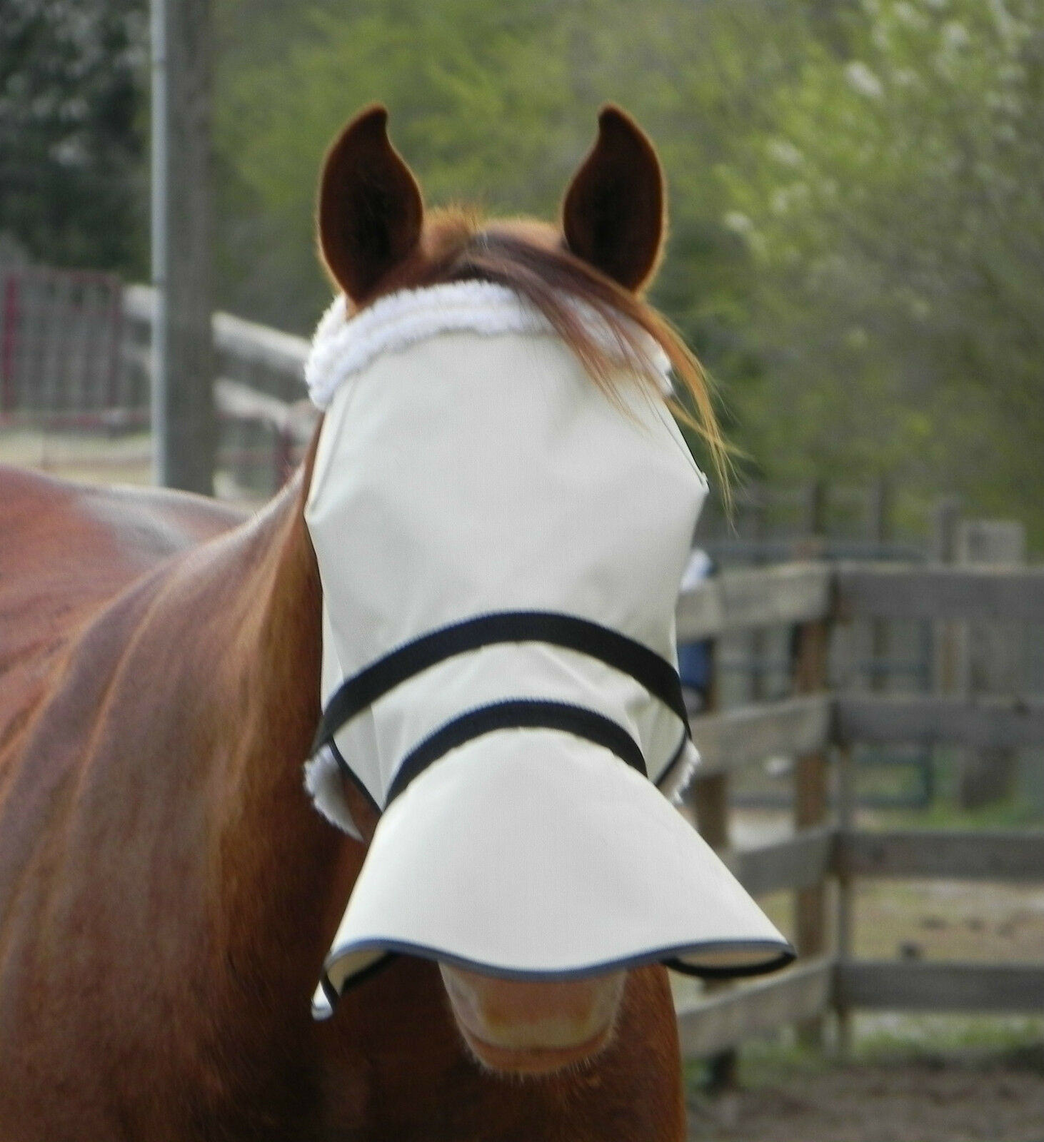 Full Face 90% UV proof shade & fly mask with sheepskin  Effective durable WORKS