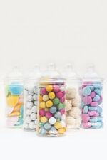 x5 500ml Empty Plastic Sweet Jars Candy Buffet Wedding Storage Christmas Kids