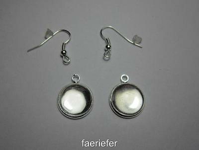 Make your own earrings kit gold pendant finding earwires glass cabochons 18 x 13
