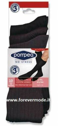 9 Paar Socken Men Pompea Lange aus Microfiber Gerippt Medium Art Feincord L