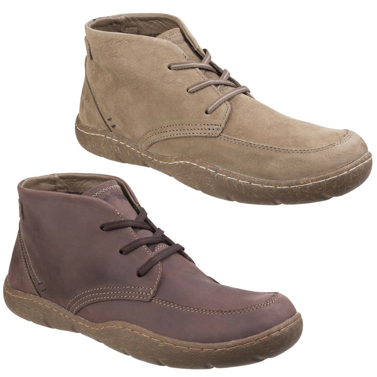 Hush Puppies Finnian Sway Ankle Boots Casual Leather Lace Up Mens Chukka shoes