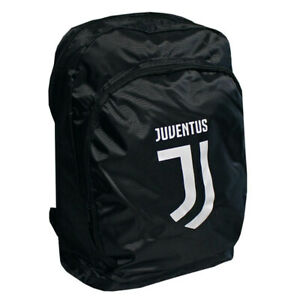 JUVENTUS BLACK BACKPACK TEAM CREST OFFICIALLY LICENSED FREE SHIPPING USA