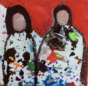 Original-Outsider-Art-Figure-Painting-Never-Alone-Katie-Jeanne-Wood