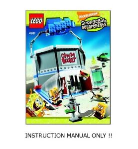 Details about (Instructions) for LEGO Set 4981 The Chum Bucket -  INSTRUCTION MANUAL ONLY