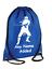 PERSONALISED Drawstring Gym Sac NINJA Warrior Bag School PE Kit Sport Girls Boys