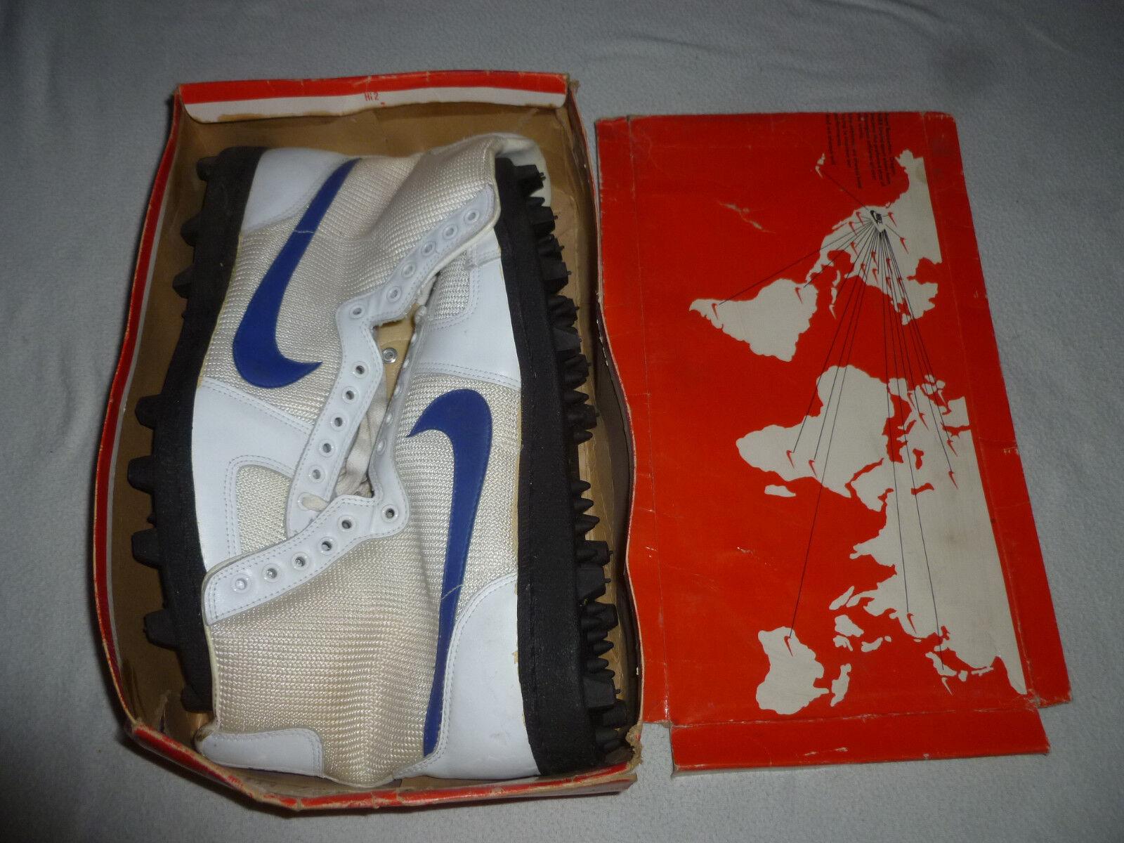 Di nuovo in scatola vintage degli anni '80 - squalo mako cuoio Uomo hi-top scarpe sz 13 1 / 2.