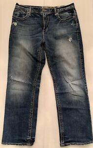 Jeans Para Hombre Hebilla Bke Seth 34 34x32 Azul Oscuro Relajado Ebay