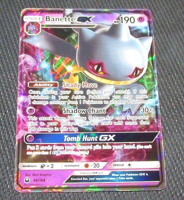 Ultra Rare Pokemon Card TCG Banette GX SM Celestial Storm  66