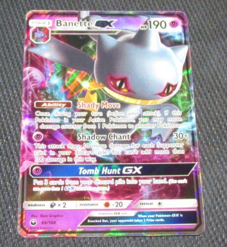 Banette GX 66//168 SM Celestial Storm Set HOLO Rare Pokemon Card NEAR MINT