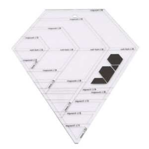 patchwork diamond shape template clear acrylic 12 52 x9 84 quilting