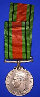 NEW OLD STOCK WW2 1939 1945 MEDAL RIBBON 8 INCH DEFENCE AND WAR MEDAL FULL SIZE