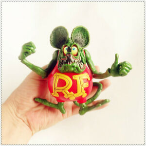 "Green Rat Fink Ed Big Daddy Roth RF Action Figure 4/"""