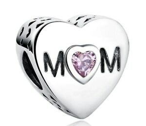 Silver-Charm-Charms-Mother-Mum-Beads-Charms-Fit-European-Bracelet-for-Women