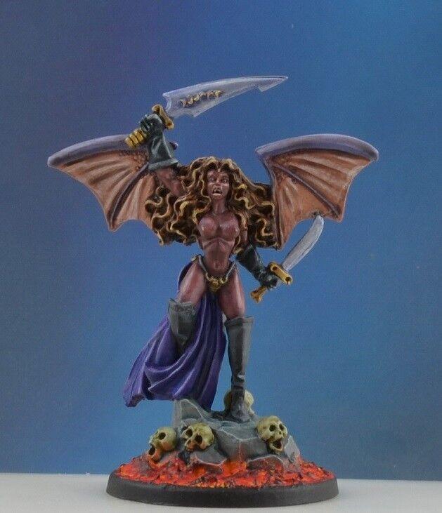 Pintado sirithis, súcubo de Reaper miniatures, lava, Hembra D&D