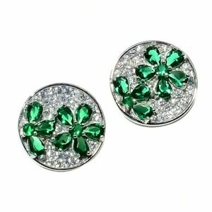 Natural-Zambian-Emerald-Earrings-925-Sterling-Silver-Women-Cocktail-Jewelry-Gift