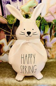 Rae Dunn Magenta Happy Spring Pink Ceramic Easter Bunny Tabletop Shelf Decor
