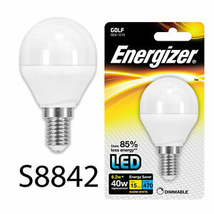 energizer dimmable led round 40w watt cap ses e14 energy saving light bulbs ebay