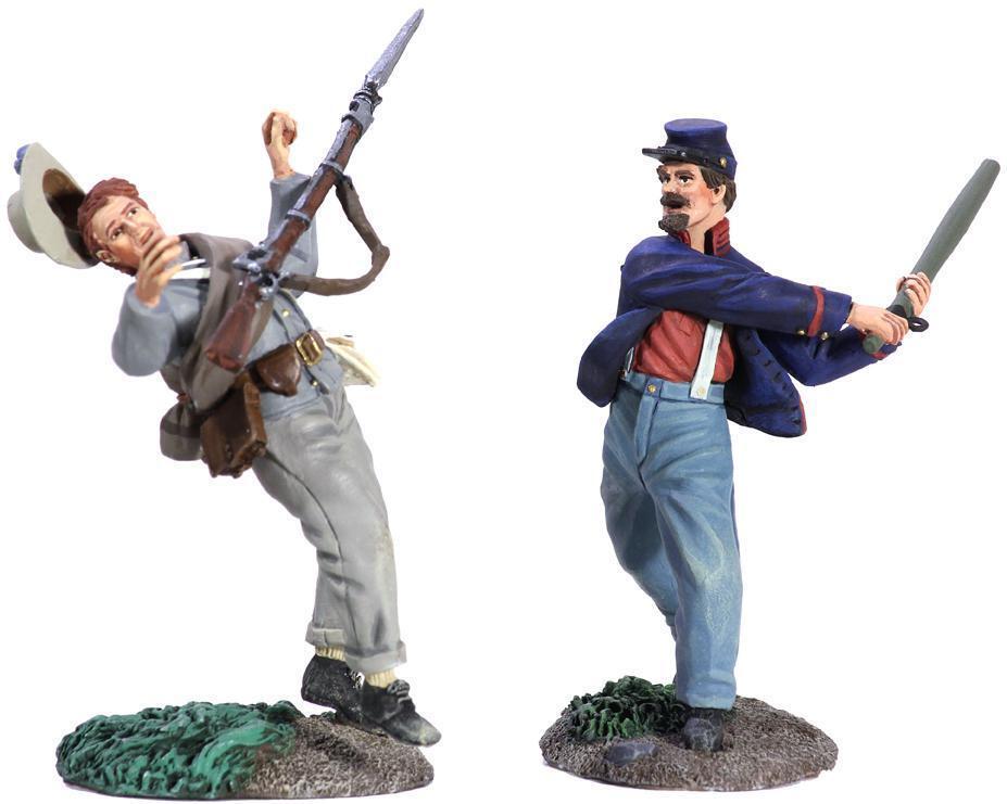 BRITAINS 31225 -  Homerun   - Union Artilleryman and Confederate Infantry set