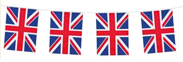 10M Bunting 20 Flag Great Britain Union Jack Garland Pub Street Party Decoration
