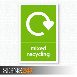 Mixed-Recycling-Sticker-WRAP-Recycle-Self-Adhesive-100mm-x-150mm