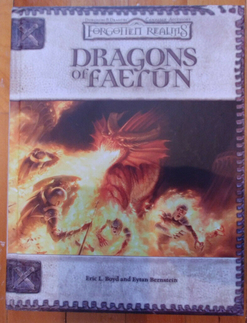 Brand new  D&D 3.5 Dragons of Faerun (2006, first print)(collectible & NM)
